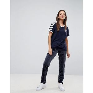 adidas Originals Firebird Track Pant In Navy Velvet - Blue