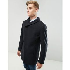 wool overcoat with funnel neck - grey marki Esprit