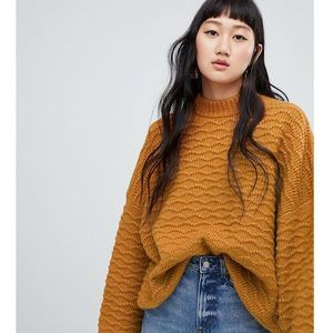 textured sweater in camel - yellow marki Weekday