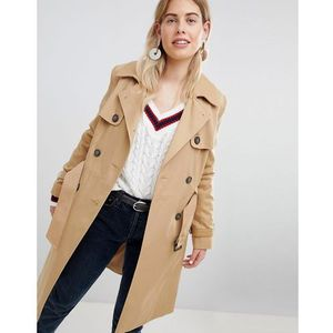 structured mac trench coat - stone marki New look