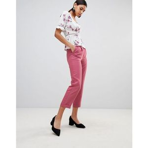 high waist tailored trousers - pink marki Fashion union