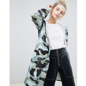 Rains Long Camo Jacket - Multi, 1 rozmiar