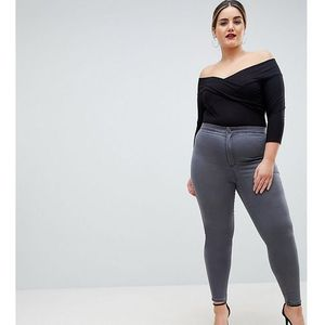 Asos curve Asos design curve rivington high waisted jeggings in new cara grey wash - grey