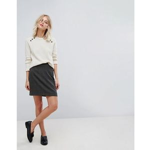 dog tooth check print skirt - multi, Esprit