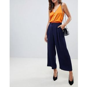 Y.a.s textured wide leg trouser - navy
