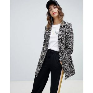 River island leopard print coat - brown