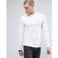 long sleeve polo shirt with branding - white marki Allsaints
