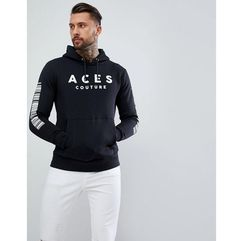 Aces Couture Muscle Hoodie With Back Print - Black, kolor czarny