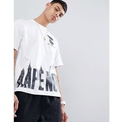 AAPE By A Bathing Ape boxy fit t-shirt with camo logo hem print in white - White