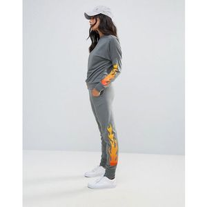 Lasula Flame Jogger Bottoms - Grey
