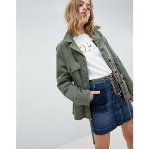 utility jacket with hiker lace waist detail - green marki Tommy hilfiger