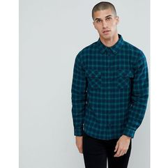 Another influence flannel check shirt with twin pocket - navy