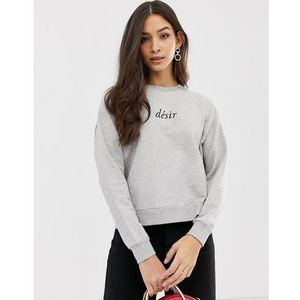 French connection crew neck desire sweater - grey