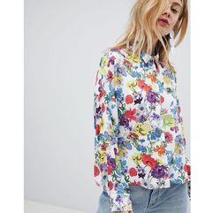 cropped shirt in spring floral - multi marki Asos design