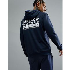 adidas Basketball Dame Hoodie In Navy CE7355 - Navy, kolor szary