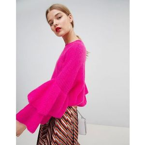 Essentiel Antwerp Fluffy Frill Jumper - Pink