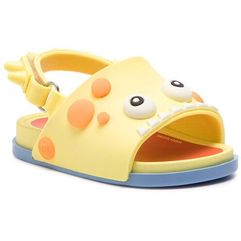 Sandały - mini melissa beach slide dino 32444 yellow/red/blue 53420 marki Melissa