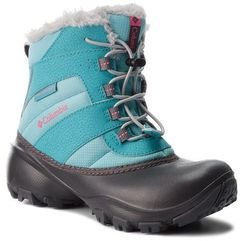 Śniegowce COLUMBIA - Youth Rope Tow III Waterproof BY1323 Camellia/Rose 341, kolor niebieski