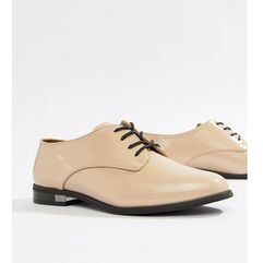 Aldo Flat Brogue Shoe - Beige