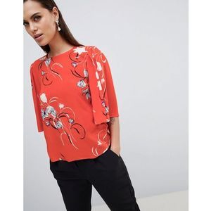 Y.a.s floral print top with kimono sleeve - multi