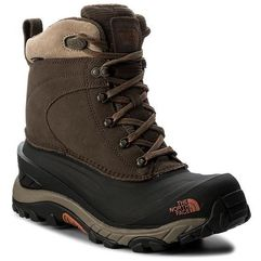 Śniegowce - chilkat iii t939v6yva mudpack brown/bombay orange, The north face, 39-40.5