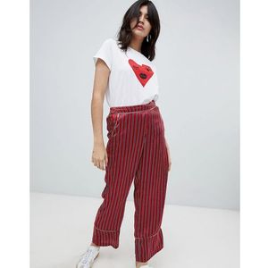 Soaked in luxury stripe loose trousers - multi