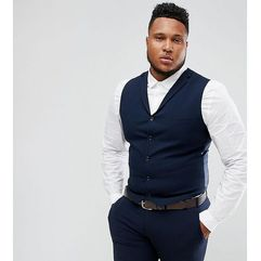 ASOS DESIGN Plus super skinny fit suit waistcoat in navy - Navy, kolor szary