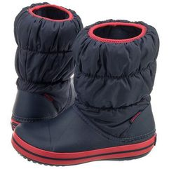 Crocs Śniegowce winter puff boot kids navy/red 14613 (cr61-b)