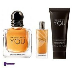 SET Armani Stronger With You (M) edt 100ml + edt 15ml + sg 75ml