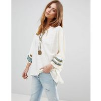 Free People Second Wind Henley Top - White, 1 rozmiar