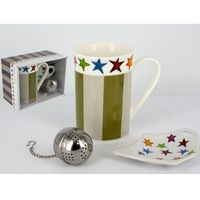 Kubek royal. tea bag i zaparzarka do herbaty Design Stars and stripes