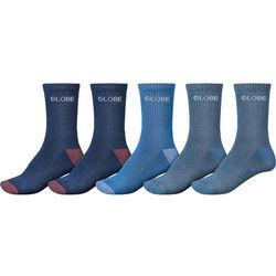 skarpetki GLOBE - Blues Crew Sock 5 Pack Assorted (ASS), kolor niebieski
