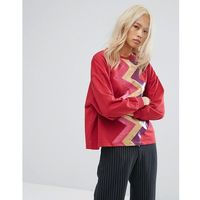 sweater with zigzag front - red marki Ziztar