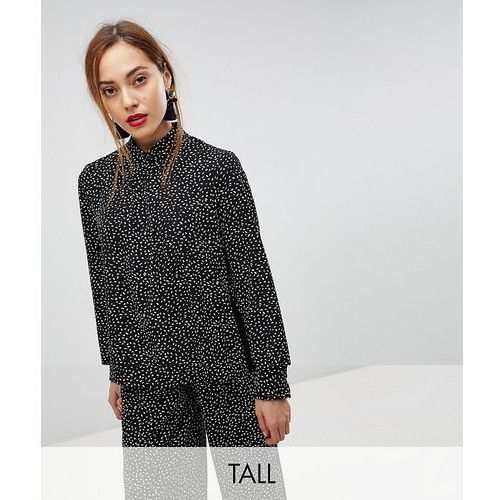 Y.A.S Tall Printed High Neck Top - Navy