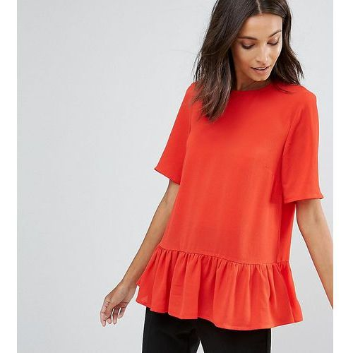 Y.A.S Tall Citrulla Peplum Top - Red